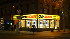 Cash Money payday loan business. Toronto, Canada. Stock Footage