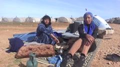 Syria, Kobani - February, 2016: Emigrants, SDF,ISIS war, SDF – YPJ,YPG Stock Footage