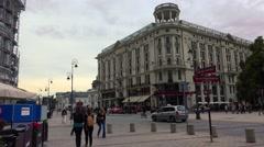 Bristol Hotel in Warsaw. Poland. 4K. Stock Footage