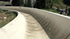 Alpine slide point of view HD Stock Footage