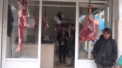 Syria, Kobani - February, 2016: butcher shop, SDF,ISIS war, SDF – YPJ,YPG Stock Footage