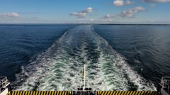 Ferry and water waves Stock Footage
