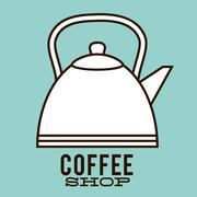 Kettle of Coffee shop design Stock Illustration