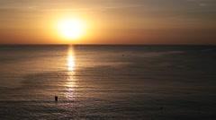 Sunrise in autumn in Altea. Stock Footage