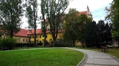 Catholic church of Wizytek. St. Joseph in Warsaw. Poland. 4K. Stock Footage