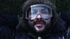 4k Natural Shot of an Extreme Man Face Close-up Stock Footage