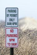 Parking by permit only Stock Photos