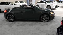 Audi TT Roadster on display during the Miami International Auto Show Stock Footage