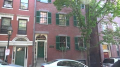 The Lewis and Harriet Hayden House, Phillips Street, Boston, MA, United States. Stock Footage