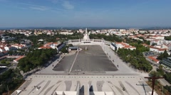 Sanctuary of Fatima, Portugal. Aerial. Stock Footage