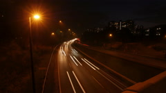 Don Valley Parkway time lapse at night. Toronto, Canada. Stock Footage