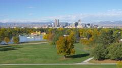 Denver Skyline Wide Shot Stock Footage