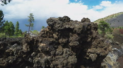 Hardened Lava Rock Close Up- Sunset Crater National Monument Stock Footage