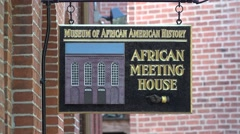 The African Meeting House, Black Heritage Trail, Boston, MA. Stock Footage