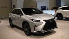 Lexus RX 350 F Sport sedan on display during the Miami International Auto Show Stock Footage