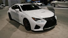 Lexus RC 350 F coupe on display during the Miami International Auto Show Stock Footage
