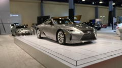 Lexus LC 500h coupe on display during the Miami International Auto Show Stock Footage
