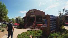 Sinagua Plaza In Uptown Sedona Arizona Business District Stock Footage