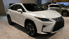 Lexus RX 450h SUV on display during the Miami International Auto Show Stock Footage