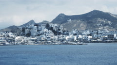 The main port on the island of naxos in greece Stock Footage
