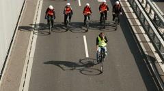 4K Bicycle Bike Cyclist Biker Sport Sports Day Munich Germany Europe Stock Footage