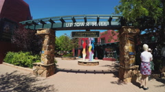 Walking In Sedona Arizona Uptown Mall Past Shops Stock Footage