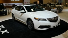 Acura TLX sedan on display during the Miami International Auto Show Stock Footage