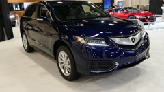 Acura RDX crossover on display during the Miami International Auto Show Stock Footage