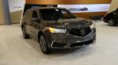 Acura MDX on display during the Miami International Auto Show Stock Footage