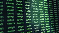 Computer Software Accessing Digital Account Data Information - Slan Stock Footage