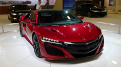 Acura NSX coupe on display during the Miami International Auto Show Stock Footage