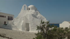 Panagia paraportiani church on the island of mykonos in greece Stock Footage