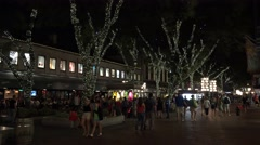 Faneuil Hall Marketplace at night in Boston, MA. Stock Footage