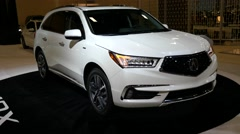 Acura MDX SUV on display during the Miami International Auto Show Stock Footage