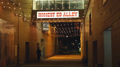 Honest Ed Alley. Honest Eds department store. Toronto, Canada. Stock Footage