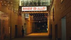 Honest Ed Alley. Honest Eds department store. Toronto, Canada. Stock Footage