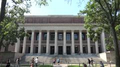 The Widener Library, Harvard University, Cambridge, MA. Stock Footage