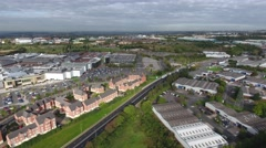 Aerial view of an industrial area in Dudley. Stock Footage