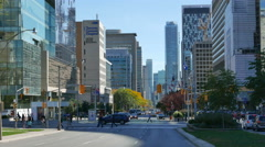 University Avenue at College Street Toronto Stock Footage