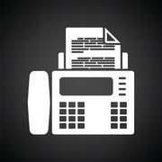 Fax icon Stock Illustration
