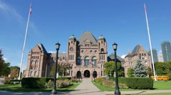 Ontario Legislative Building Toronto Canada Stock Footage