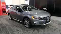 Volvo S60 Cross Country T5 AWD at the Miami International Auto Show Stock Footage