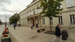 Palace of Tyszkiewicz. Warsaw. Poland. 4K. Stock Footage