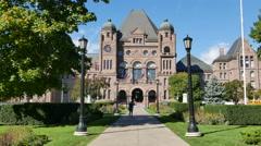 Ontario Legislative Building Queens Park Toronto Stock Footage