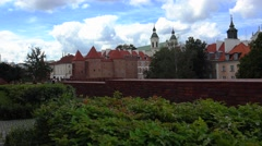 Barbican. Ancient, old tower in Warsaw. Poland. 4K. Stock Footage