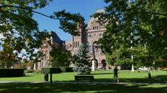 Queens Park Ontario Legislative Building Toronto Stock Footage
