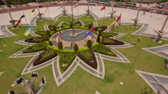 Circling garden in front of Presidential Palace Putrajaya Stock Footage