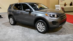 Land Rover Discovery Sport SE at the Miami International Auto Show Stock Footage