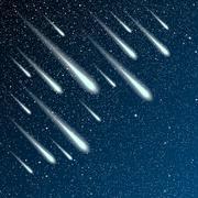 Starry night sky. Stars, night. Comet, meteor. Stock Illustration