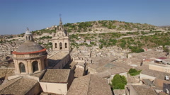 Flying over Saint George to view of Modica Stock Footage